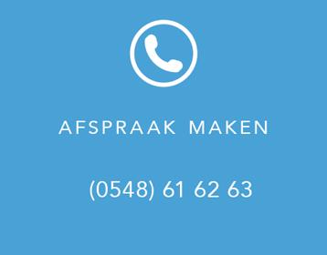 Afspraak maken - Bel 0548 61 62 63